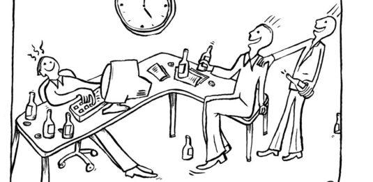 alcohol op werk